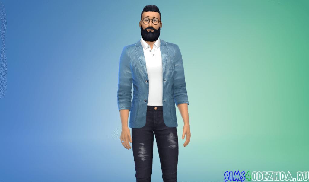 Мужской кожаный пиджак - фото 3