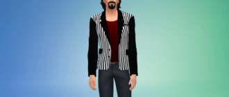 Мужской модный полосатый пиджак Симс 4 - фото 1