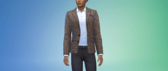 Мужской пиджак в клетку Симс 4 - фото 1