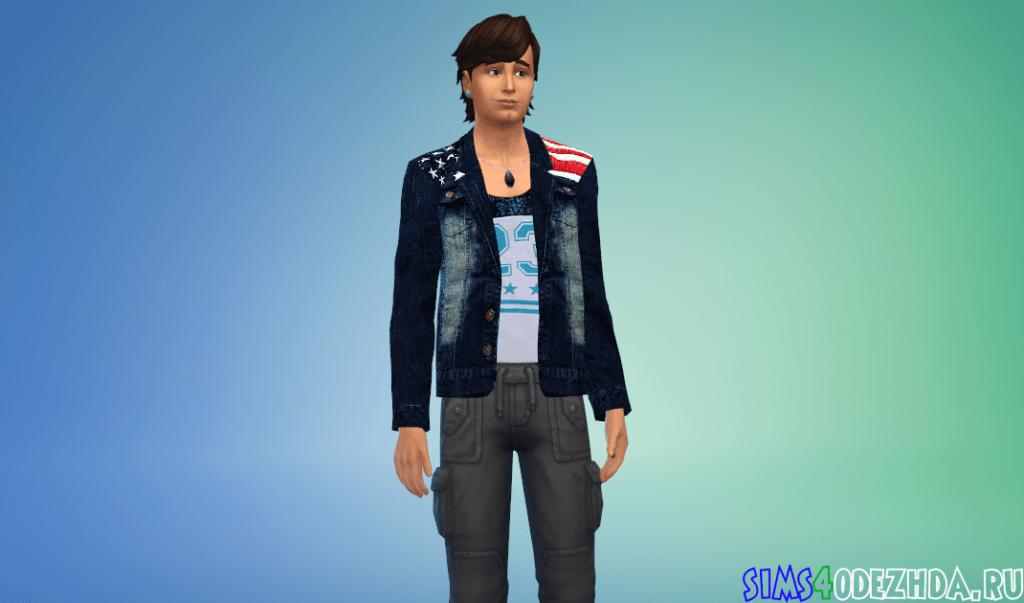 Мужской пиджак с американским флагом - фото 2