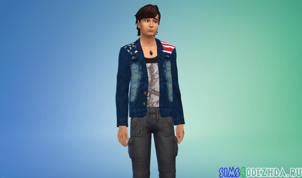 Мужской пиджак с американским флагом - фото 3