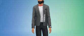 Мужской пиджак с крутой надписью на спине Симс 4 - фото 1