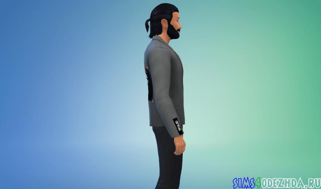 Мужской пиджак с крутой надписью на спине - фото 2