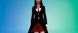 Пиджак в аниме стилистике для девушек Симс 4 - фото 1