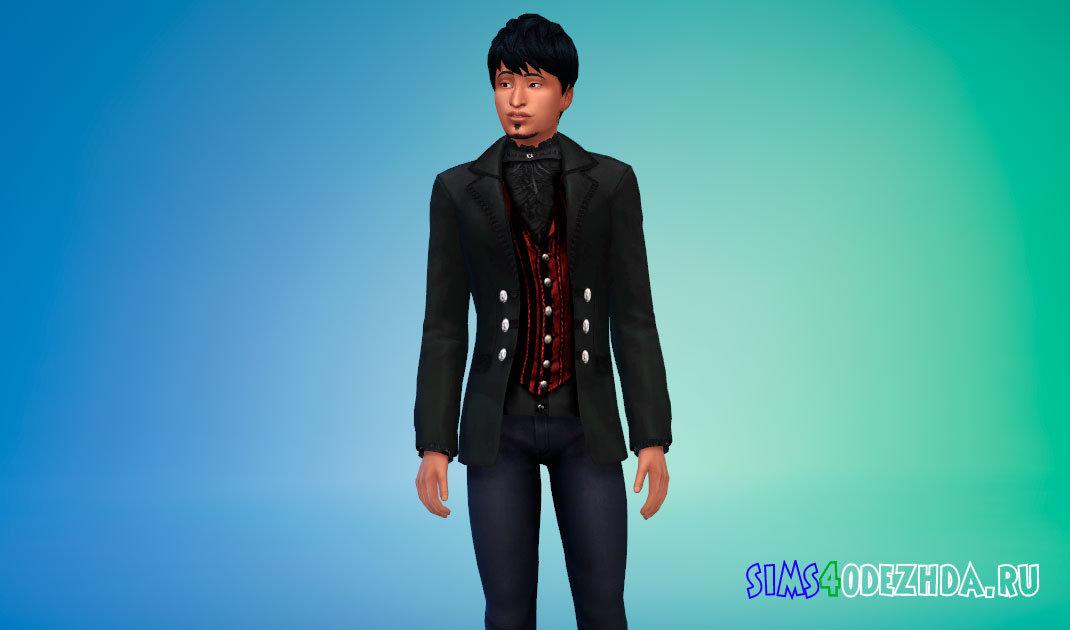 Пиджак в викторианском стиле для вампиров Симс 4 - фото 1