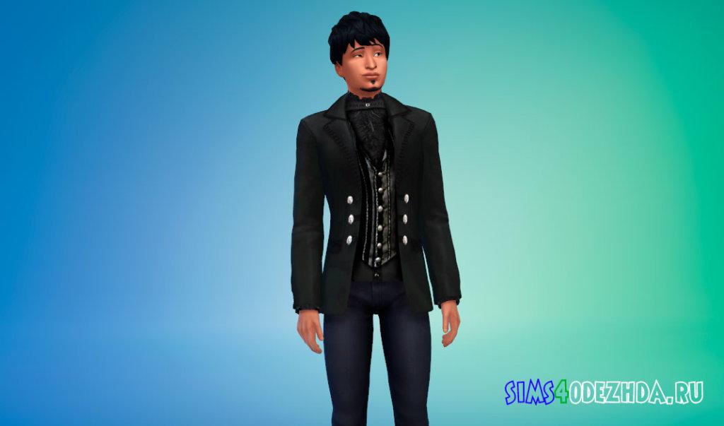 Пиджак в викторианском стиле для вампиров Симс 4 - фото 2