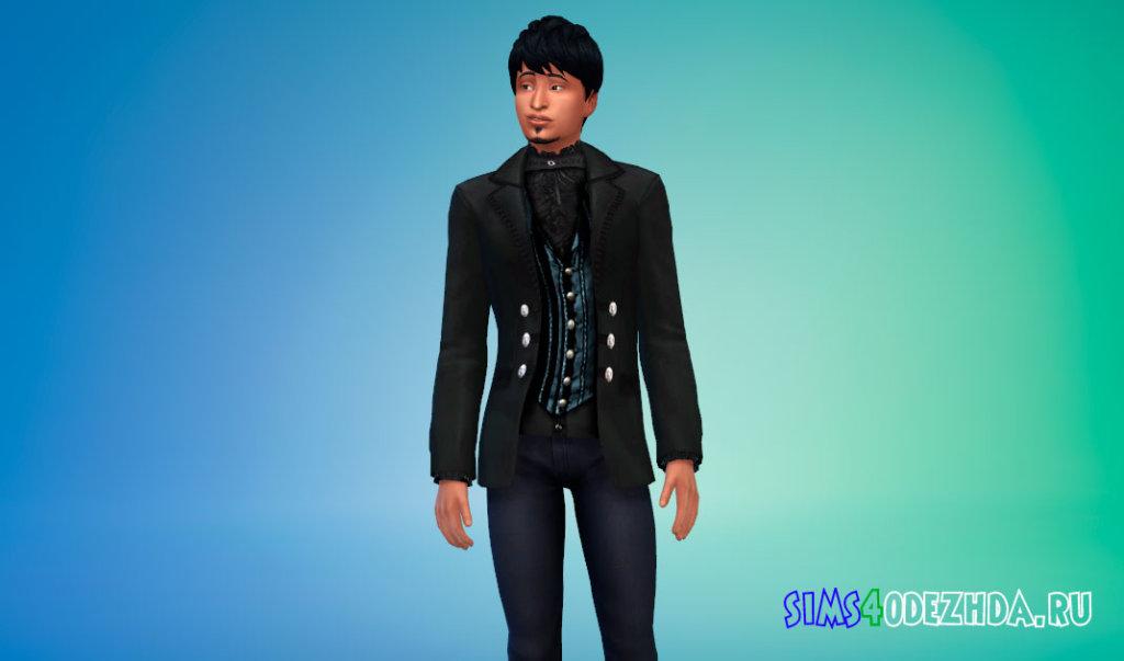 Пиджак в викторианском стиле для вампиров Симс 4 - фото 3