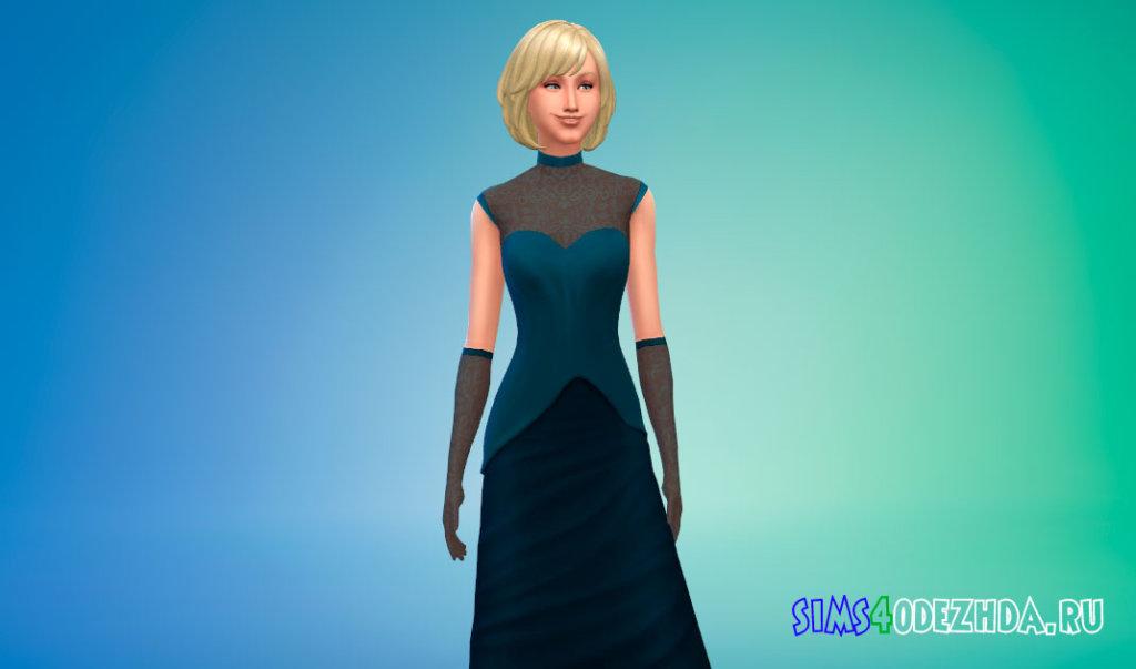 Платье вампира и перчатки Симс 4 - фото 1