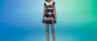 Платье с птицами Симс 4 - фото 1