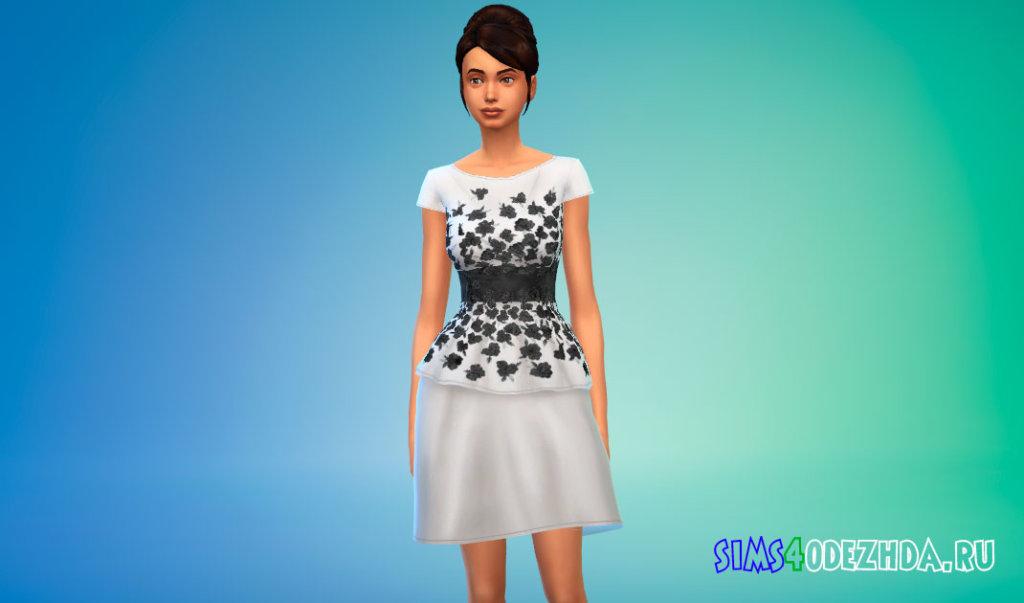 Платье с цветами Симс 4 - фото 1