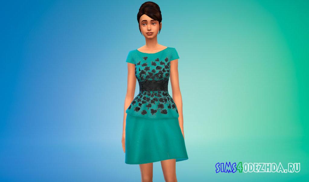 Платье с цветами Симс 4 - фото 3