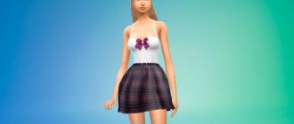 Платье школьной формы для Симс 4 - фото 1