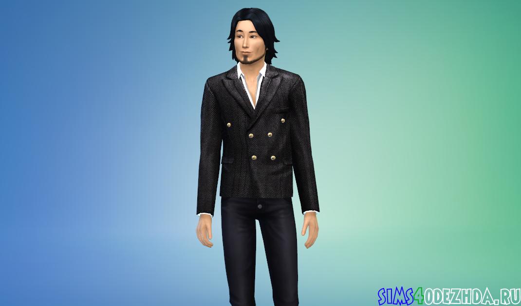 Праздничный элегантный пиджак Симс 4 - фото 1