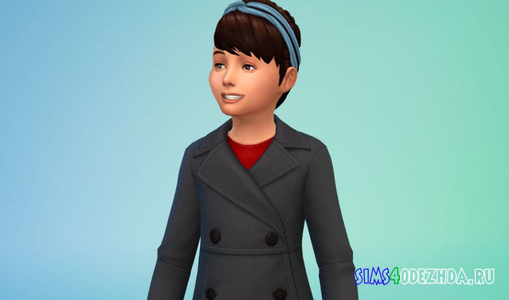 Прическа с повязкой на голове для девочек Симс 4 - фото 1