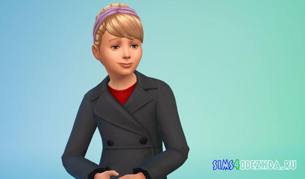 Прическа с повязкой на голове для девочек Симс 4 - фото 3