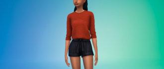 Простая и яркая женская блузка для Симс 4 - фото 1