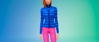 Пуховая зимняя куртка Симс 4 - фото 1