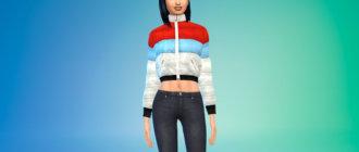 Разноцветная куртка с подкладкой Симс 4 - фото 1