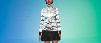 Серебристая куртка-пуховик Симс 4 - фото 1