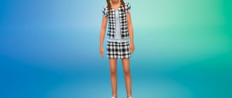 Сет школьной формы для девочек для Симс 4 - фото 1