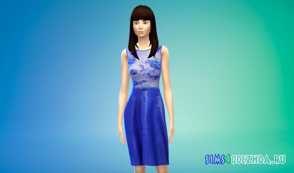 Синее платье Кэти Перри Симс 4 - фото 1