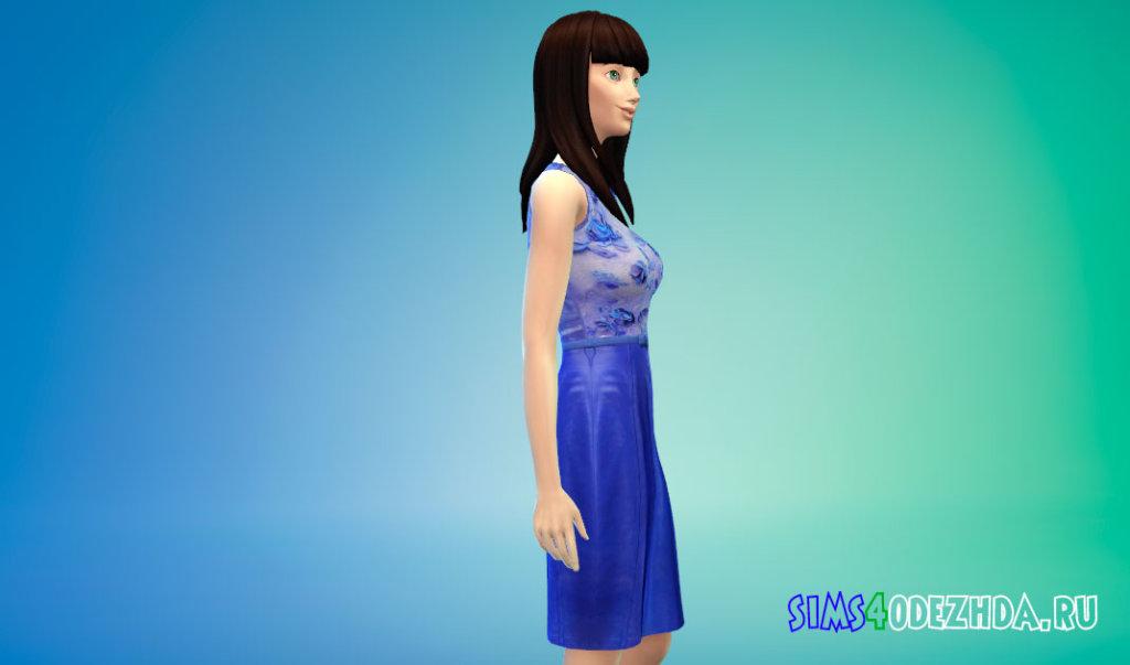 Синее платье Кэти Перри Симс 4 - фото 2