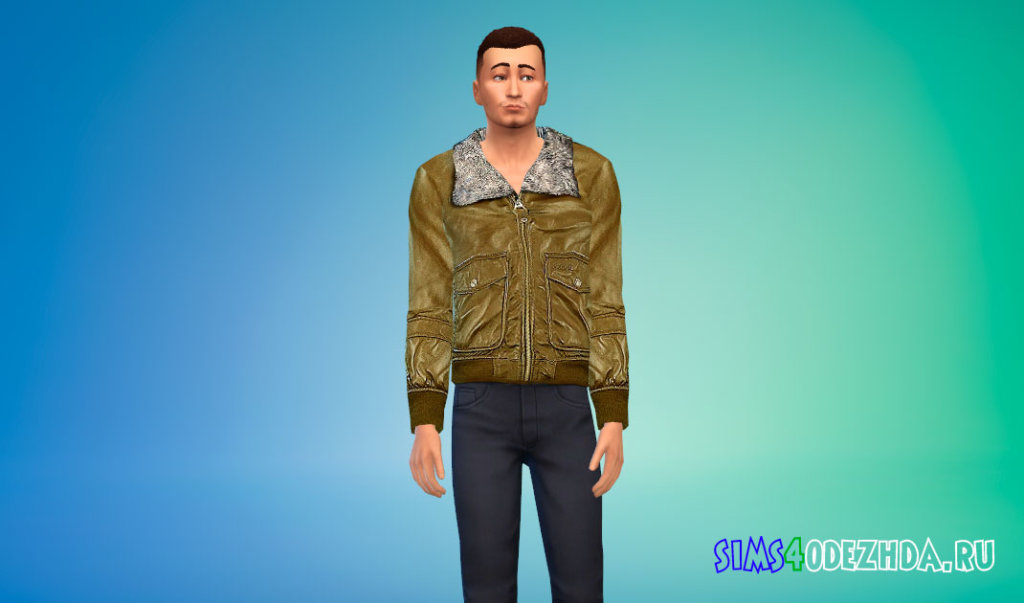 Стильная мужская зимняя куртка Симс 4 - фото 3