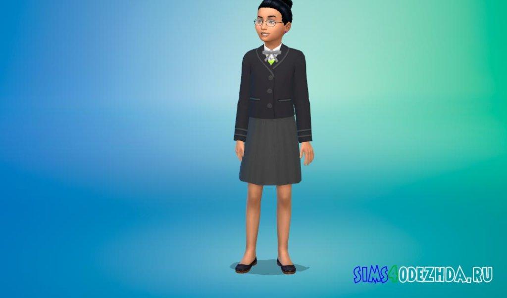 Стильная школьная форма для девочек для Симс 4 - фото 1
