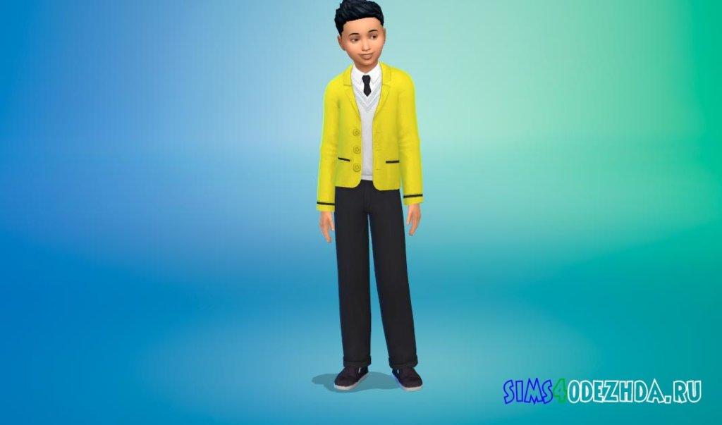 Стильная школьная форма для мальчиков для Симс 4 - фото 3