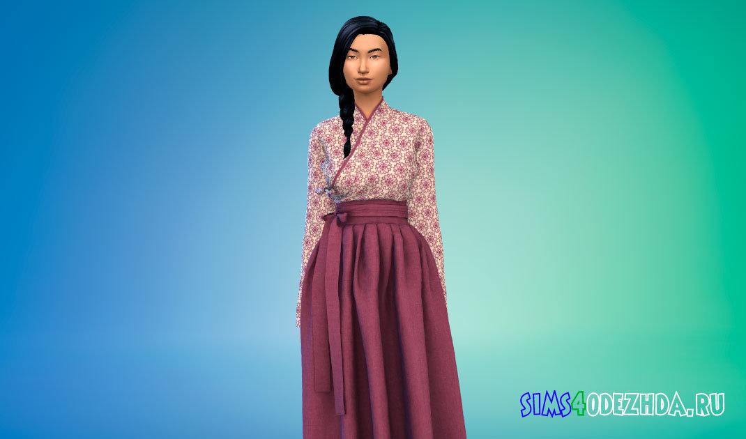 Традиционное корейское платье Симс 4 - фото 1