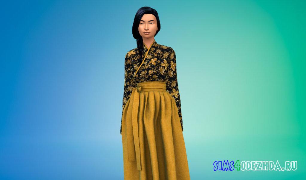 Традиционное корейское платье Симс 4 - фото 2