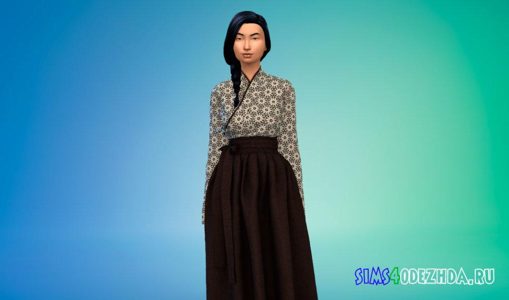 Традиционное корейское платье Симс 4 - фото 3