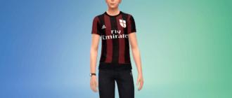 Футбольная форма AC Milan Симс 4 - фото 1