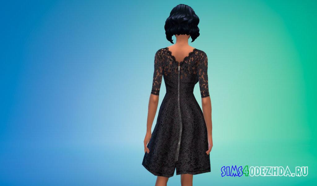 Цветочно-кружевное платье Симс 4 - фото 3