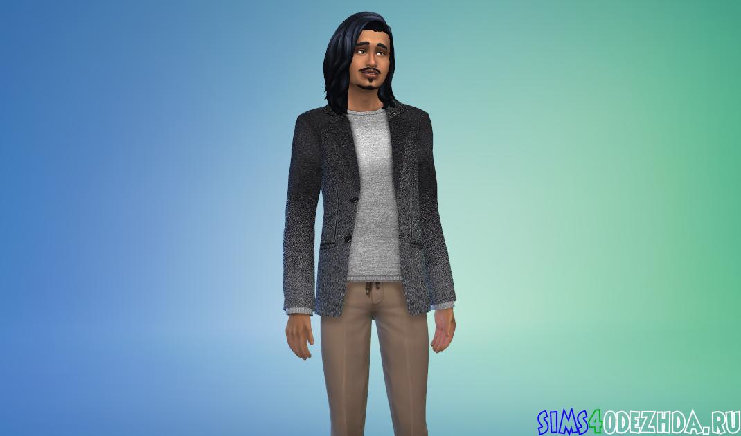 Шерстяной пиджак Симс 4 - фото 1