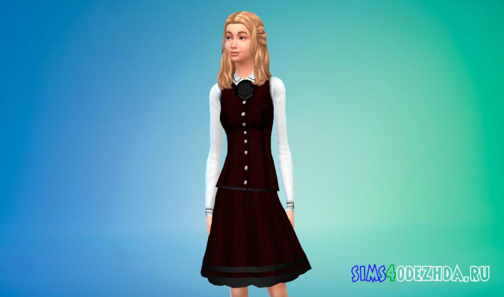 Школьная форма для девушек для Симс 4 - фото 2