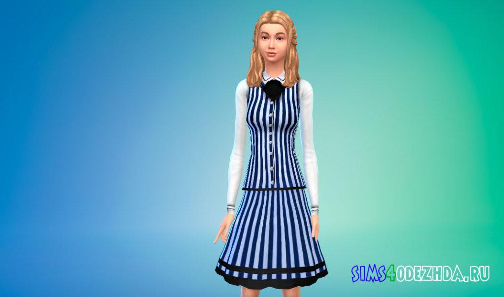 Школьная форма для девушек для Симс 4 - фото 3