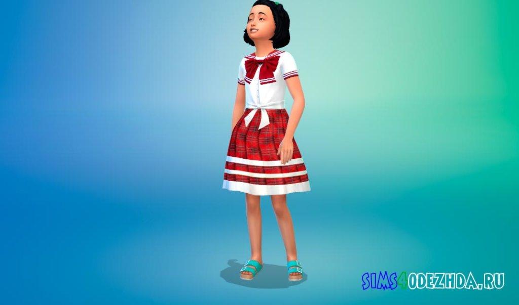 Школьное платье в аниме стиле Симс 4 - фото 2