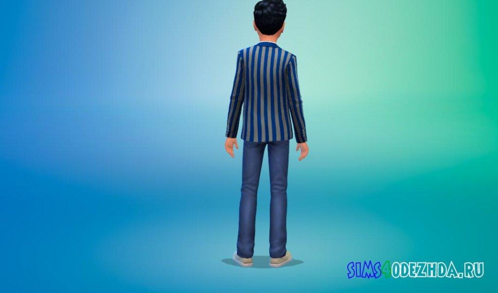 Школьный пиджак в полосу Симс 4 - фото 3
