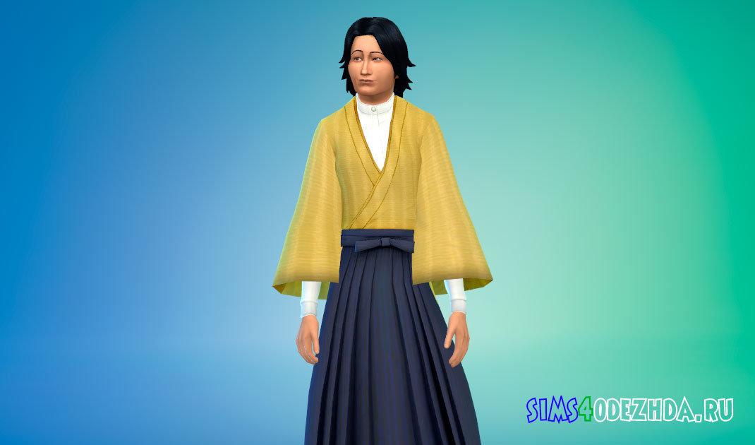 Японская ретро форма студента Симс 4 - фото 1