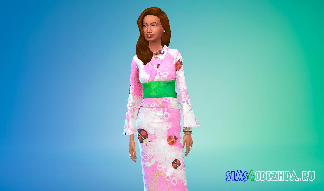 Японская юката Симс 4 - фото 1