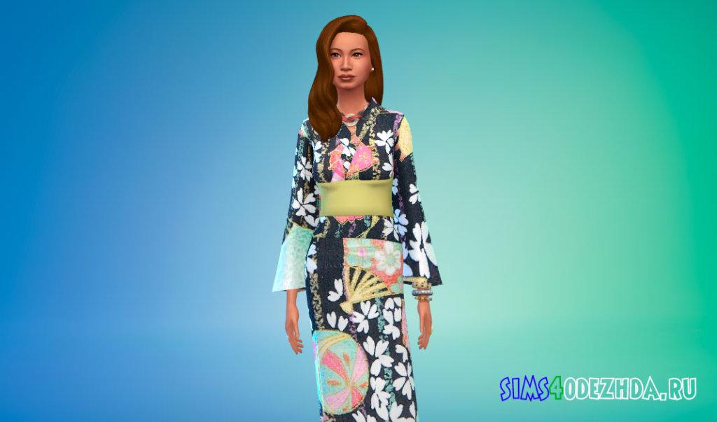 Японская юката Симс 4 - фото 2