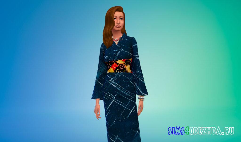 Японская юката Симс 4 - фото 3