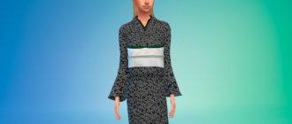 Японское кимоно Симс 4 - фото 1