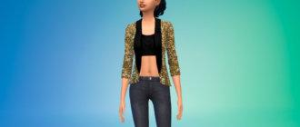 Блестящий пиджак для Симс 4 - фото 1