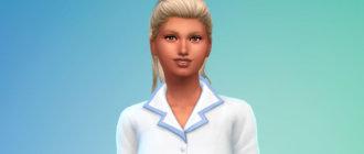 Волосы с высоким хвостом для Симс 4 - фото 1