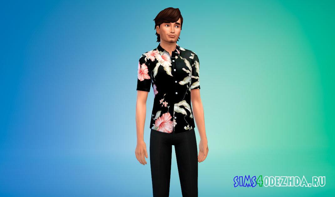 Гавайская рубашка для Симс 4 - фото 1