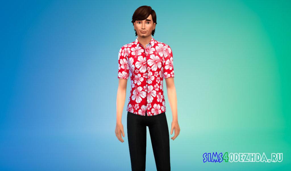 Гавайская рубашка для Симс 4 - фото 2
