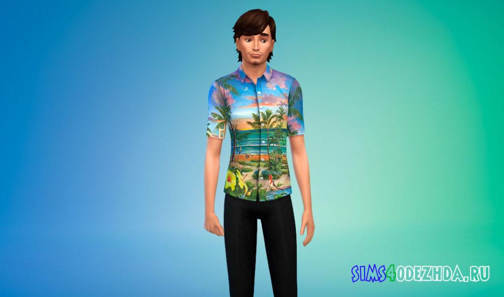 Гавайская рубашка для Симс 4 - фото 3