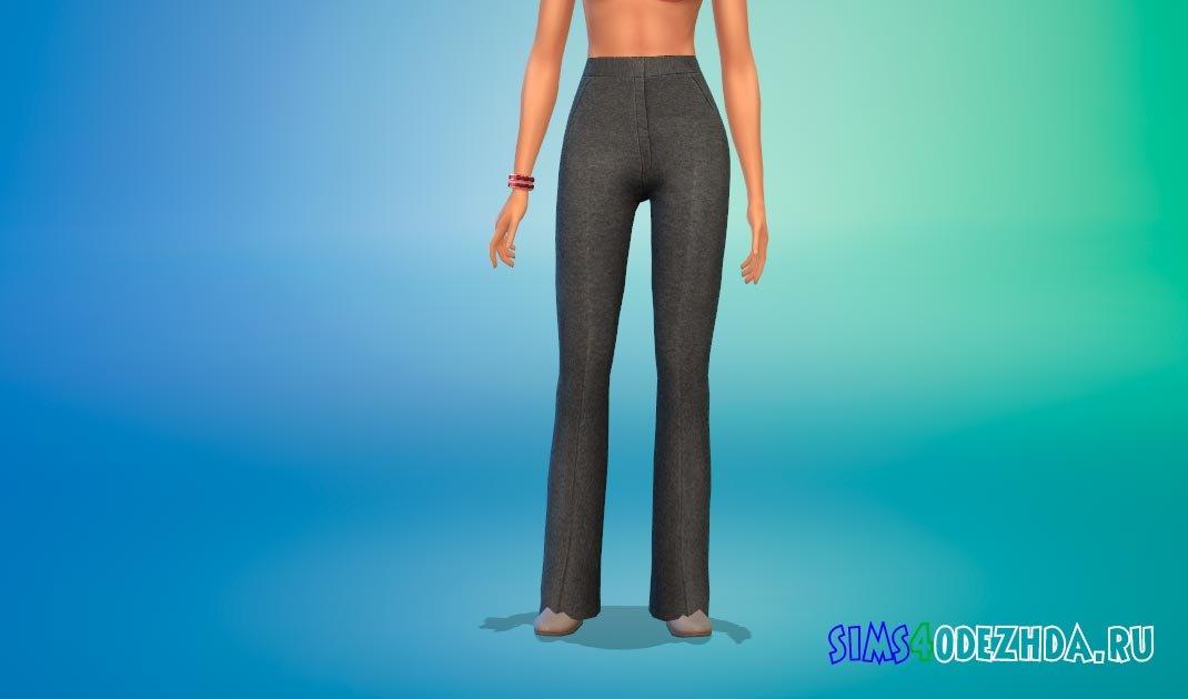 Женские брюки-клеш для Симс 4 - фото 1